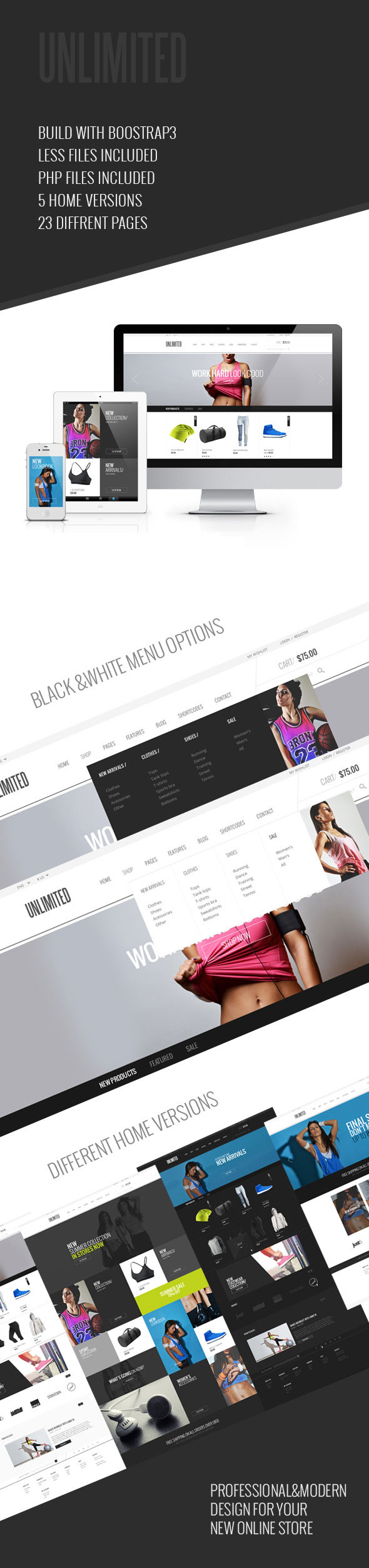 Unlimited - Sports Wear & Accessories Store Template - 1